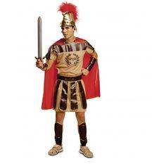 Disfraz de Centurión Disfraces de Centuriones Adultos  Original Disfraz de Centurión para hombre compuesto por vestido, capa, muñequeras, espinilleras y casco. Ideal para tu fiesta de disfraces de carnaval de centurión o para tu fiesta de disfraces Originales romanos.  24,00 €