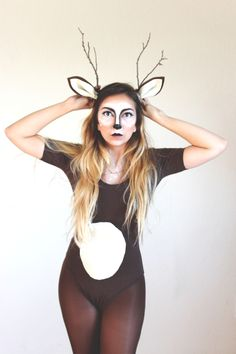 DIY Ears and Antlers - Micheal's    Leotard - American Apparel    Tights - Target                                                                                                                                                                                 More