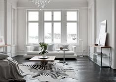 white and light living room