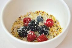 Quinoa with Red Fruits and Coconut