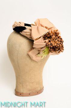 1940s hat/ 40s velvet hat/ tilt hat by MidnightMart