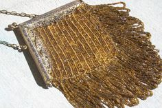 Gold Beaded Flapper Bag