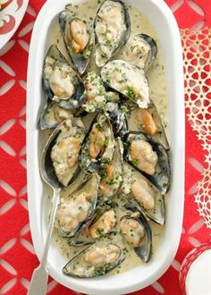 Mussels, Garlic  - yum!