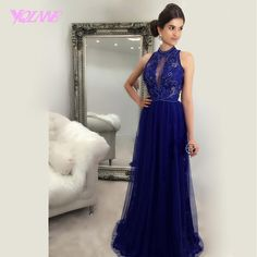 Find More Prom Dresses Information about New Arrival 2017 Royal Blue Tulle Long Prom Dresses Evening Gown Beading Zipper Back Floor Length Vestido De Festa,High Quality beaded strapless gown,China beaded tops for evening wear Suppliers, Cheap beaded bridal gown from Suzhou YQLAN Wedding & Prom Ltd. Store on Aliexpress.com