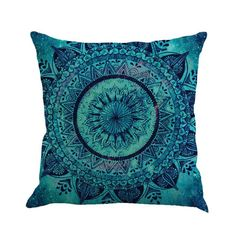 Cotton Linen Cushion Cover Car Sofa Pillow Case Bay Window Decoration Home Decor without Inner can be washed easy to clean Teal Throw Pillows, Throw Pillow Cases, Cover Pillow, Sofa Cushion Covers, Cushions On Sofa, Elephant Room, Textiles, Sofa Home, Decorative Pillow Cases