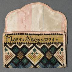 Mary W. Alsop, 1774 | Middletown, Connecticut | Silk, Linen, Canvas, Cardboard