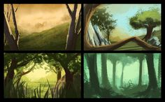 More concept art for the forests lush, overgrown environment. Heart Projects, Environment Concept, Forests, Lush, Concept Art, Gaming, Painting, Conceptual Art, Videogames