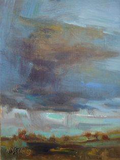 Blue Sweep, painting by artist Mary Maxam