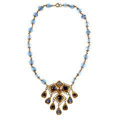 Buy Alice Joseph Vintage 1920s Bohemian Filigree Sodalite Stone Pendant, Blue Online at johnlewis.com