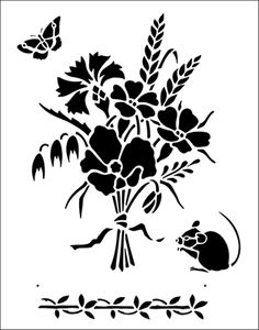 Harvest stencil from The Stencil Library BUDGET STENCILS range. Buy stencils online. Stencil code TP39.