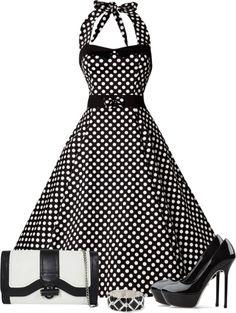 """""""Polka Dot Dress"""" by denise-schmeltzer on Polyvore"""
