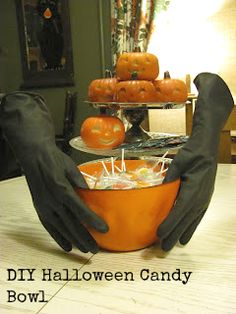 DIY Hands on the candy bowl
