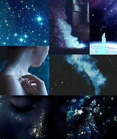 """""""Aesthetic for a Spacekin who loves glitter and dark skies"""" Witch Aesthetic, Aesthetic Collage, Character Aesthetic, Blue Aesthetic, Aesthetic Pastel Wallpaper, Aesthetic Wallpapers, Aquarius Aesthetic, Glitter Photography, Dark Skies"""