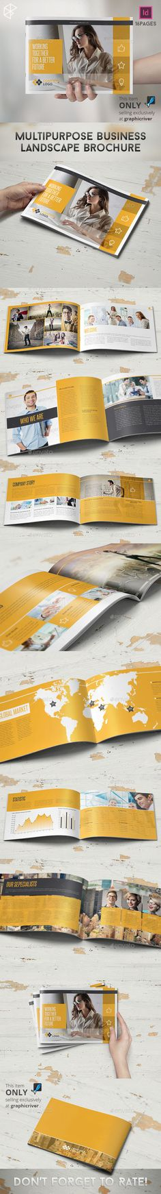Project Proposal InDesign Template v2 Project proposal, Indesign - landscape brochure
