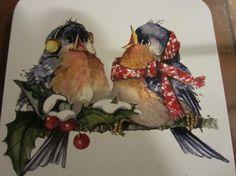 Carolyn Shores Wright - Bluebird coasters - Christmas