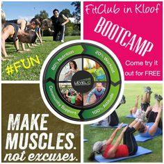 FitClub in Kloof offers fun Bootcamp fitness. We run body transformation challenges. We believe in 20% exercise and 80% nutrition equals 100% mindset. Contact me to join my team and learn more about Herbalife Nutrition. Wellness.coach.sa@gmail.com
