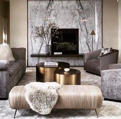 "506 Likes, 9 Comments - inscapesdesign@gmail.com (@inscapesdesign) on Instagram: ""Luxe living room via @materialsmethodsdesign ♠"""