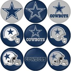 "Dallas Cowboys NFL 1.75"" Badges Pinbacks, Mirror, Magnet, Bottle Opener Keychain http://www.amazon.com/gp/product/B00CKANUN2"