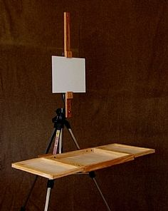 Plein Air System set up by Art Box and Panel Plein Air Easel, Pochade Box, Art Easel, Art Storage, Storage Ideas, Outdoor Paint, Painted Boxes, Art Plastique, Box Art