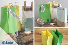 Papiertüten basteln ist einfacher als gedacht. Wir haben zwei Bastelanleitungen für Sie. So verpacken Sie schnell und dekorativ fast jedes Geschenk.