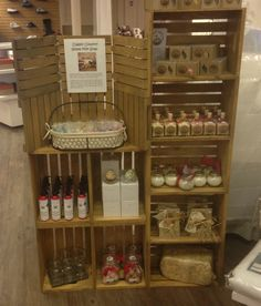 A cute and organized little country-style display!  {Classic Country Goat's Milk Products. At Garnet Mercantile in Ely, Nevada.}