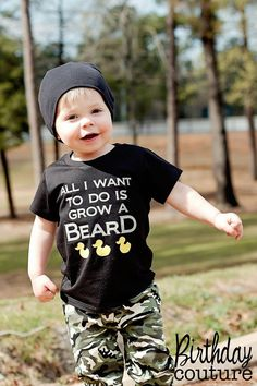 All I want to do is grow a beard - Duck Dynasty Inspired Shirt- t-shirt or onesie on Etsy, $25.00