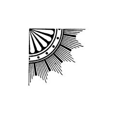Blade Rubber Stamps Art Deco Corner ($4.26) ❤ liked on Polyvore featuring fillers, backgrounds, art deco, drawings, doodles, borders, effect, embellishment, circle and details