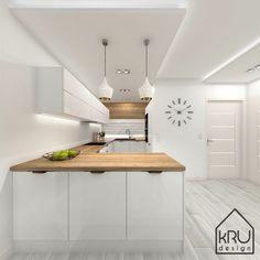» Zakres projektu: kuchnia – 2 wersje KRU Design Kitchen Room Design, Kitchen Cabinet Design, Modern Kitchen Design, Home Decor Kitchen, Modern Kitchen Interiors, Modern Home Interior Design, Modern Kitchen Cabinets, Pantry Design, Cuisines Design