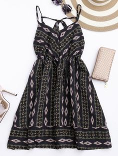 SHARE & Get it FREE | Argly Cami Chiffon Sundress - BlackFor Fashion Lovers only:80,000+ Items • New Arrivals Daily Join Zaful: Get YOUR $50 NOW!