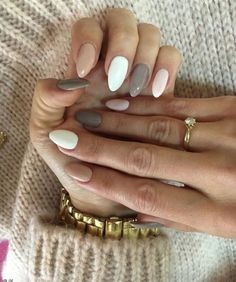 56 Perfect Almond Nail Art Designs for This Winter - Almond Nails Love Nails, How To Do Nails, Fun Nails, Cute Easy Nails, Simple Fall Nails, Cute Nails For Fall, Style Nails, Gorgeous Nails, Classy Nails