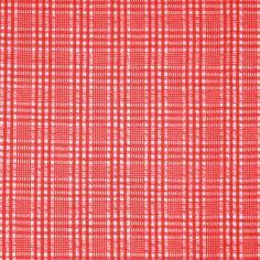 FABRIC29 FASHION SEERSUCKER Cotton Plaid Red by DartingDogFabric