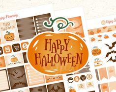 Halloween Printable planner stickers Halloween stickers set Halloween Planner…