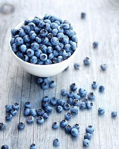 blueberries - the Finnish blueberries are smaller and have stronger, wilder taste, and they are not as sweet, but they are blue all through.