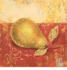 Paisley Pears IV Art Print by Stefania Ferri at Art.com