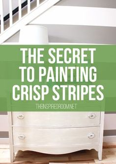 Simple instructions for how to paint perfectly crisp stripes on a wall! It's not as hard as you think!