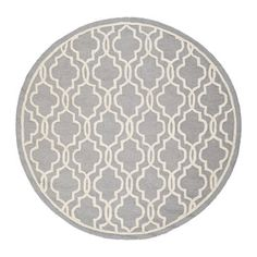 Safavieh CAM131D Cambridge Area Rug, Silver / Ivory