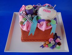 Amazing sewing basket cake @Amy Lyons R.R. Bird I think you should make one of these!