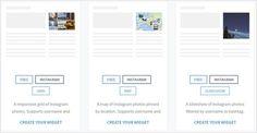 Créer un widget Instagram sur Snapwidget