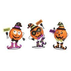 The finishing touch to your Halloween decor! Spooky Metal Pumpkin Men | Kirklands #kirklandshalloween #kirklands