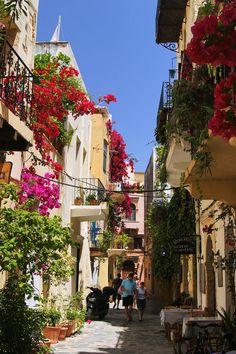 Street Taverna in Hania, Crete