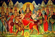 Durga's Vehicle - the Lion The lion represents power, will and determination. Mother Durga riding the lion symbolises her mastery over all these qualities. This suggests to the devotee that one has to possess all these qualities to get over the demon of ego.