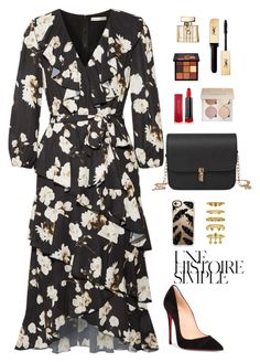 """""""To be surrounded by people you care about"""" by chase-stars ❤ liked on Polyvore featuring Alice + Olivia, Christian Louboutin, Casetify, Max Factor, Huda Beauty, Gucci, Luv Aj and Une"""