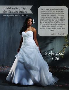 #plussize #brides {Fashion Friday} Styling Tips for Plus Size Brides | Pretty Pear Bride | http://prettypearbride.com/fashion-friday-styling-tips-for-plus-size-brides/