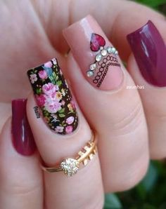 Different Nail Designs 2 Colour Nail Art Flowers Best Compilation