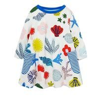 Princess Dress Long Sleeve Baby Girls Dress with Pocket Kids Tunic Jersey Dresses for Girls Clothes