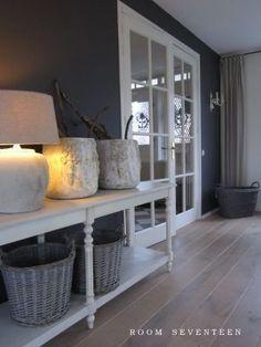 Mooie kleur voor op de muur interieur pinterest - Donkergrijze verf ...