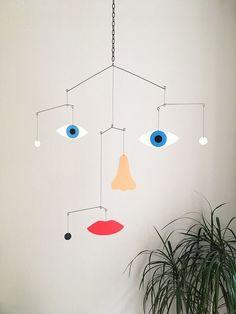 Mobile by Francesco Ciccolella Mobile Art, Hanging Mobile, Paper Mobile, Mobile Sculpture, Sculpture Art, Diy Inspiration, Kinetic Art, Vintage Design, Wire Art