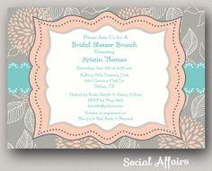 Bridal Shower Invitation Brunch  DIY Printable by SocialAffairs