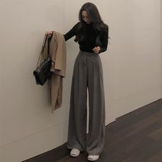 Korean Outfits, Mode Outfits, Retro Outfits, Cute Casual Outfits, Fall Outfits, Vintage Outfits, Fashion Outfits, 90s Fashion, Long Skirt Outfits