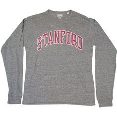 Victory Falls Long Sleeve Tee Stanford Student Store ($30) ❤ liked on Polyvore featuring tops, t-shirts, tops/outerwear, long sleeve tee, longsleeve t shirts, long sleeve t shirt, long sleeve tops and longsleeve tee